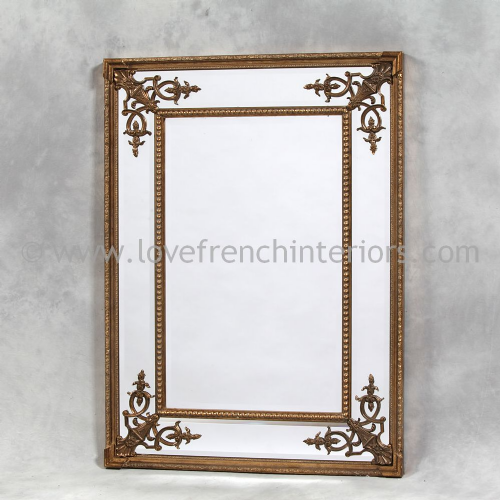 Gold French Mirror